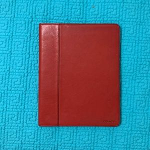 NWT leather Coach IPad/tablet case